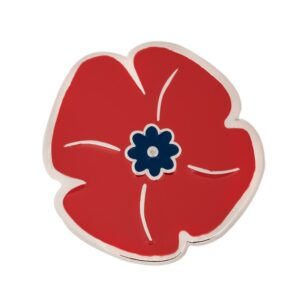 ww1 poppy lapel pin